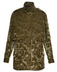 Alexander Wang Camo Jacquard Cargo Jacket