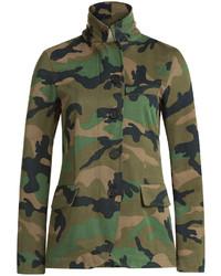 Valentino Cash Rocket Camouflage Cotton Jacket