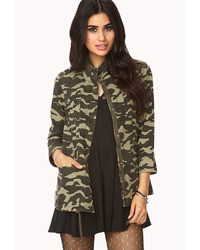 Forever 21 Forever Cool Camo Utility Jacket