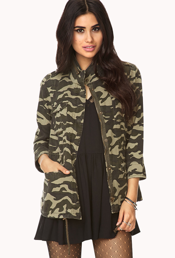 eb0434f521514 ... Military Jackets Forever 21 Forever Cool Camo Utility Jacket ...