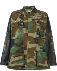 Forte Couture Embellished Camouflage Jacket