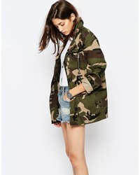 Asos Jacket In Camo Print