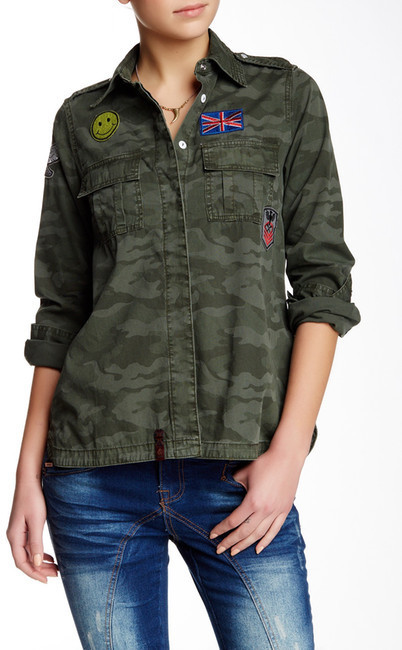 Lee Cooper Military Patched Workwear Jacket