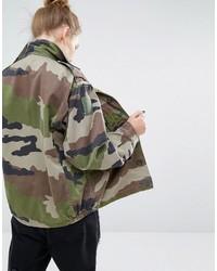 e7abfbbbb2fbc Reclaimed Vintage Military Jacket In Camo Print, $73 | Asos ...
