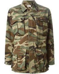Saint Laurent Camouflage Military Jacket