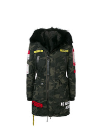 Philipp Plein Camouflage Patch Coat