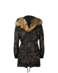 Philipp Plein Hooded Camouflage Coat