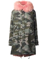 Mr mrs italy camouflage parka coat medium 1037334