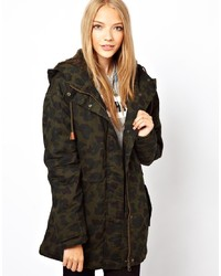 Only Comoflage Print Parka