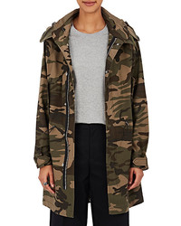 Vis a vis camouflage cotton blend hooded parka medium 1037317