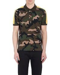 Valentino Camouflage Cotton Jersey Polo Shirt