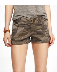 Express 2 12 Inch Camouflage Seamed Shorts