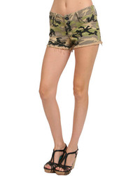 Black Orchid Black Star Cut Off Short In Vintage Camo