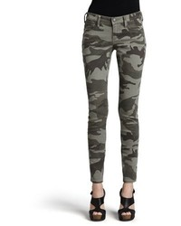 True Religion Casey Stretch Camo Low Rise Super Skinny Pants