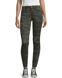 Arizona Destructed Camo Jeggings Juniors
