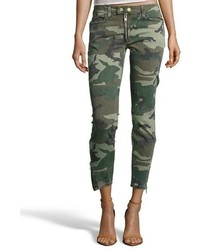 TEXTILE Elizabeth and James Olca Camo Denim Cropped Cooper Jeans