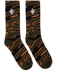 Marcelo Burlon County of Milan Green Camo Cross Socks