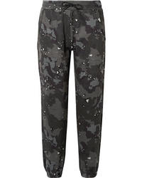 Dark Green Camouflage Sweatpants