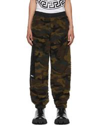 Versace Green Fleece Camouflage Lounge Pants