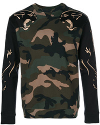Valentino Camouflage Panther Sweatshirt