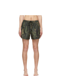 Paul Smith Green Lady Camo Swim Shorts