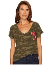 Sanctuary Camo Bloom Tee T Shirt