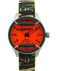 Superdry Scuba Camouflage Silicone Strap Watch 43mm Iww D10310033