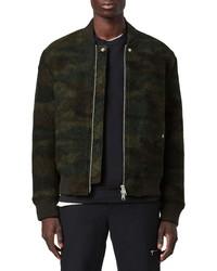 AllSaints Bastion Camo Wool Blend Bomber Jacket