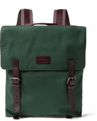 Dolce & Gabbana Leather Trimmed Canvas Backpack