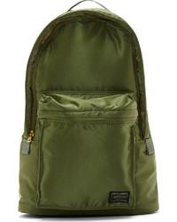 Porter Olive Green Small Tanker Backpack