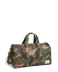 Dark Green Canvas Duffle Bag
