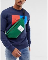 Calvin Klein Item Story Logo Bum Bag In Green