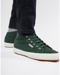 Dark Green Canvas High Top Sneakers