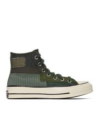 Converse Green Patchwork Chuck 70 High Sneakers