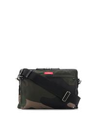 Dark Green Canvas Messenger Bag