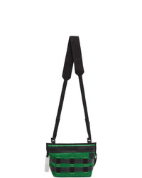Acne Studios Green And Black Abbey Messenger Bag