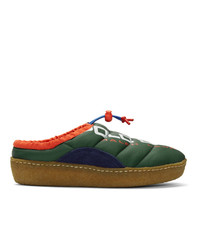 Polo Ralph Lauren Green Myles Puffer Loafers