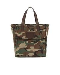 Dark Green Canvas Tote Bag