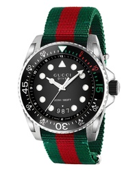 Gucci Dive Nylon Strap Watch