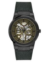 Salvatore Ferragamo F 80 Skeleton Automatic Watch