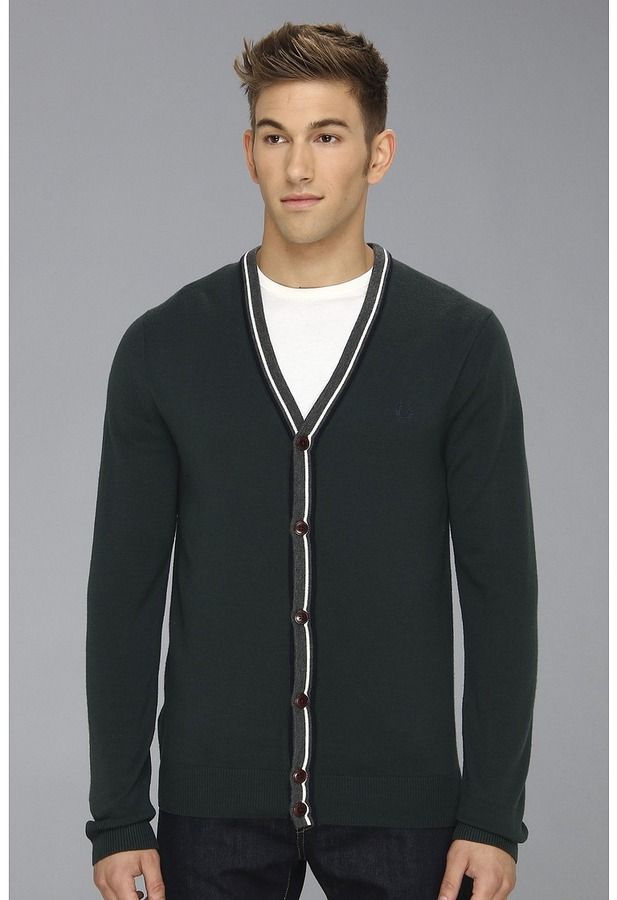 ... Fred Perry Bold Tipped Cardigan