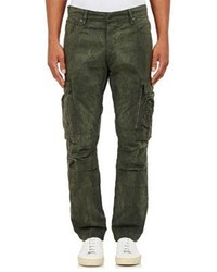 Ralph Lauren Black Label Coated Canvas Cargo Pants Green Size 31w 32