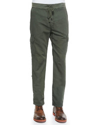 7 For All Mankind Fatigue Weekend Cotton Cargo Pants Green