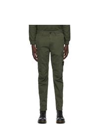 Stone Island Green Cotton Cargo Pants