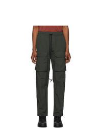 Reese Cooper®  Green Nylon Cargo Pants