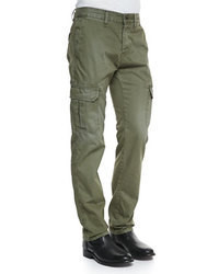 dark green cargo pants - Pi Pants