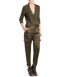 Theory Satin Cargo Pants
