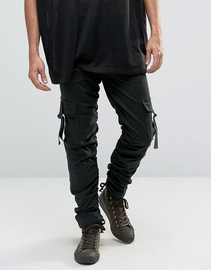 03add91f Asos Slim Cargo Pants With Side Tape In Dark Green, $33 | Asos ...