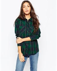 Brave Soul Checked Shirt With Front Pockets