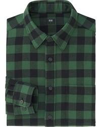 03acab0cb516 ... Uniqlo Flannel Buffalo Check Long Sleeve Shirt